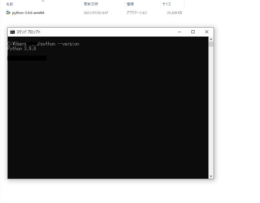 コマンドラインからPythonのバージョンを確認するコマンド