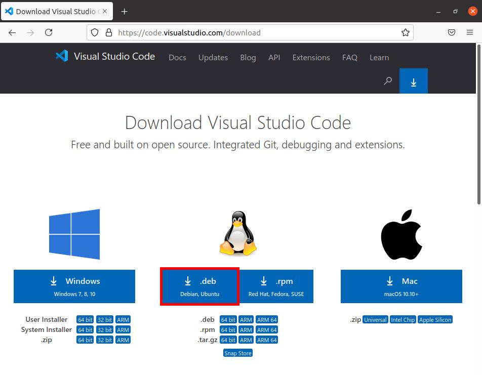 Visual Studio Codeのダウンロード